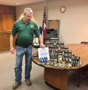 Sheriff Edwards with seized kratom