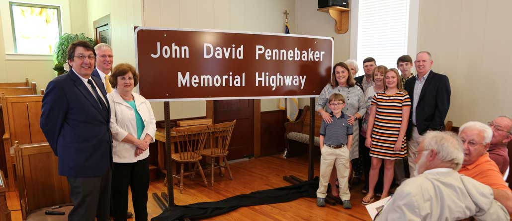 New Albany MS Pennebaker Memorial Highway dedication