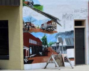 Ecru MS Mural in progress 7/2018