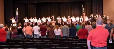 New Albany MS Patriot Day celebrants