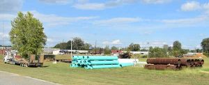 New Albany MS Steel and PVC pipe