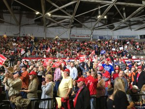 New Albany MS Trump in Tupelo nearly full arena