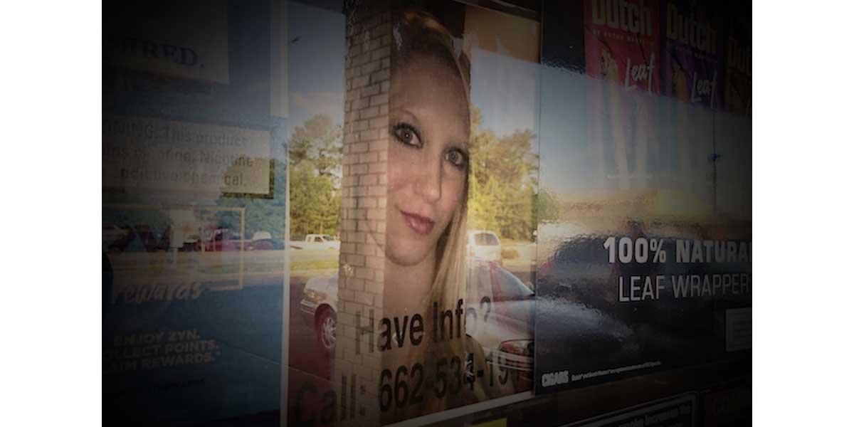 NEMiss.News Jessica Stacks flier in store window