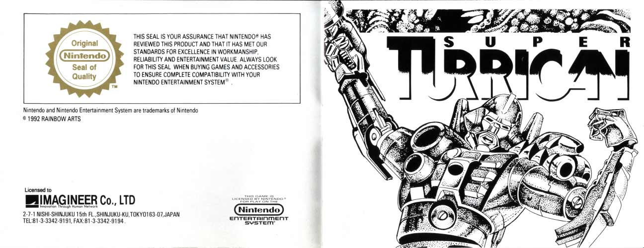 Super Turrican Manual (NES)