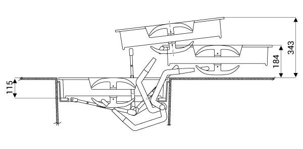 Porte a Pantografo manuali per Yacht e Barche a Motore