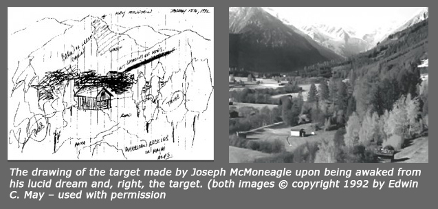 Remote Viewing Cabin Sketch and Target