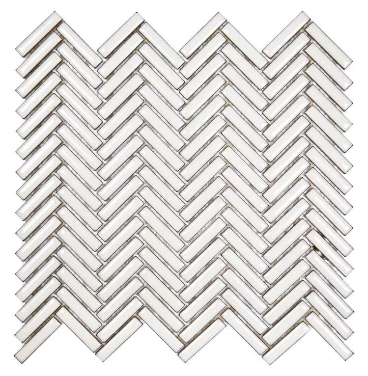 glazed herringbone dandelion mosaic sheet