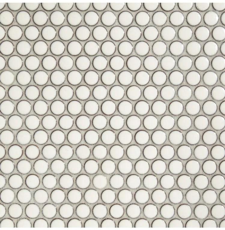 glazed penny round dandelion mosaic sheet