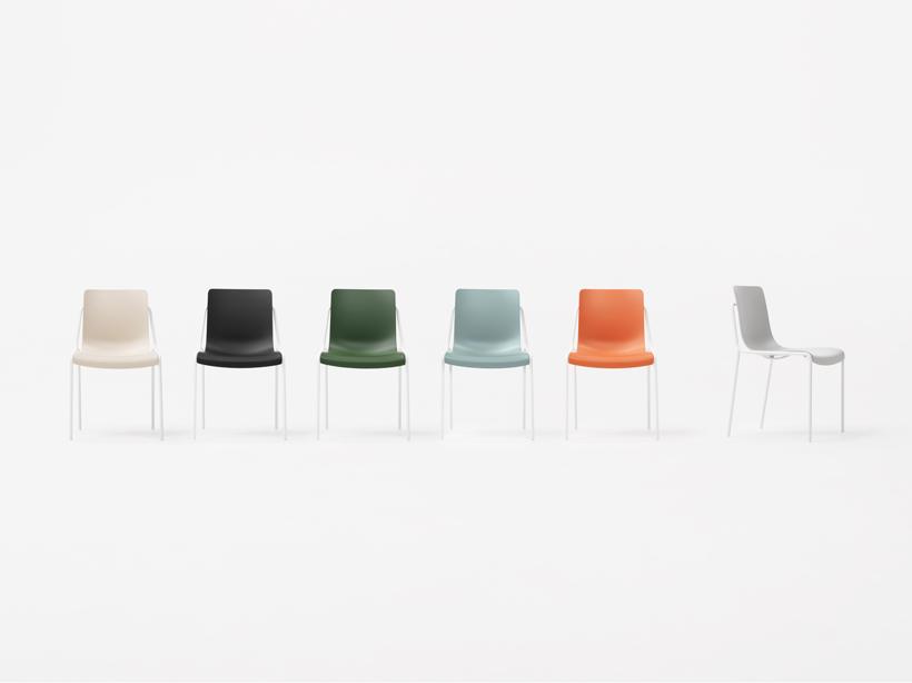 plastic resin chairs backrest for chair offset frame | nendo