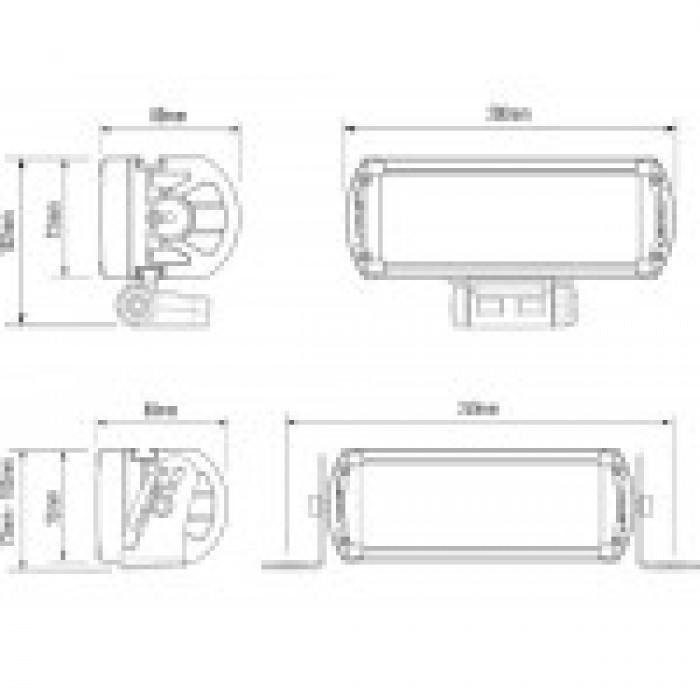 LAZER RS-4 HYBRID BEAM LED SPOTLIGHT (WITH DRL)