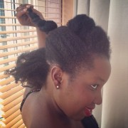 twisted updo medium-length 4c