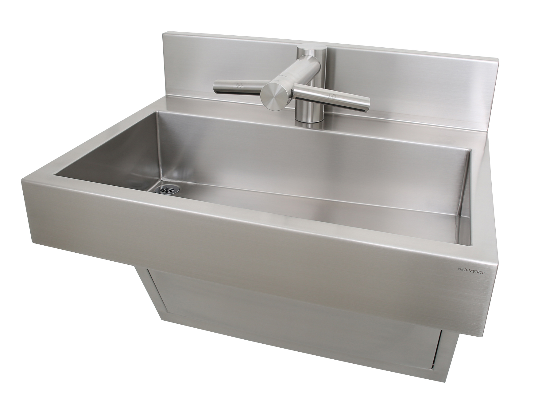 commercial stainless steel trough sink