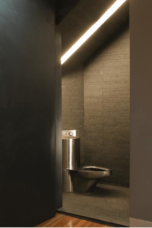commercial bathroom design that deters