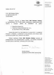 Rekomendacje piknik 2011 - MORRIS POLSKA S.A., Philip Morris Polska Distribution Sp. z o.o.