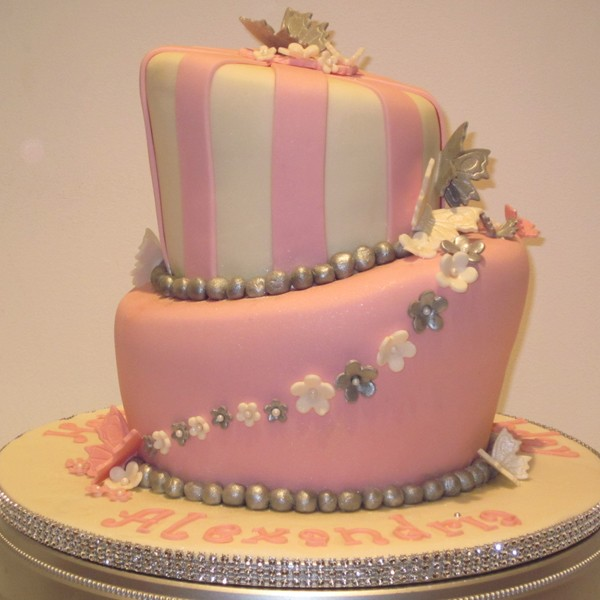 Two Tier Topsy Turvy Birthday Cake Neo Cakes