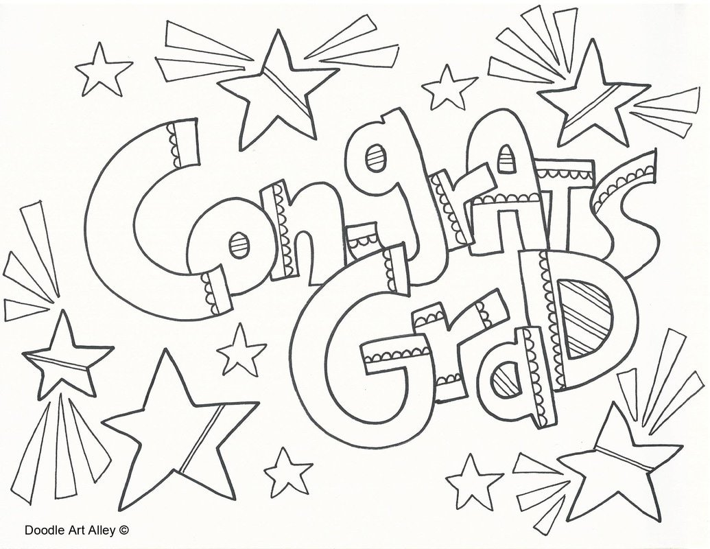 Graduation Coloring Pages