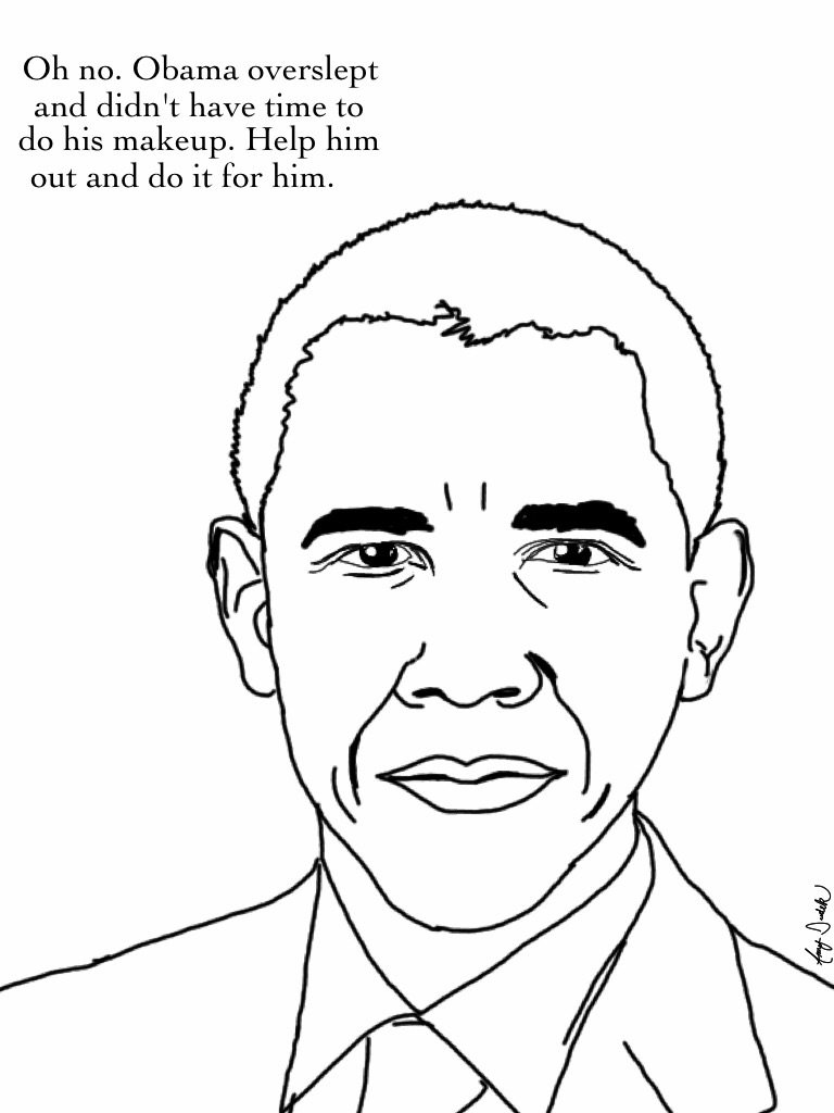 Sweet Obama Coloring Page 2017 Barack Obama Coloring Pages