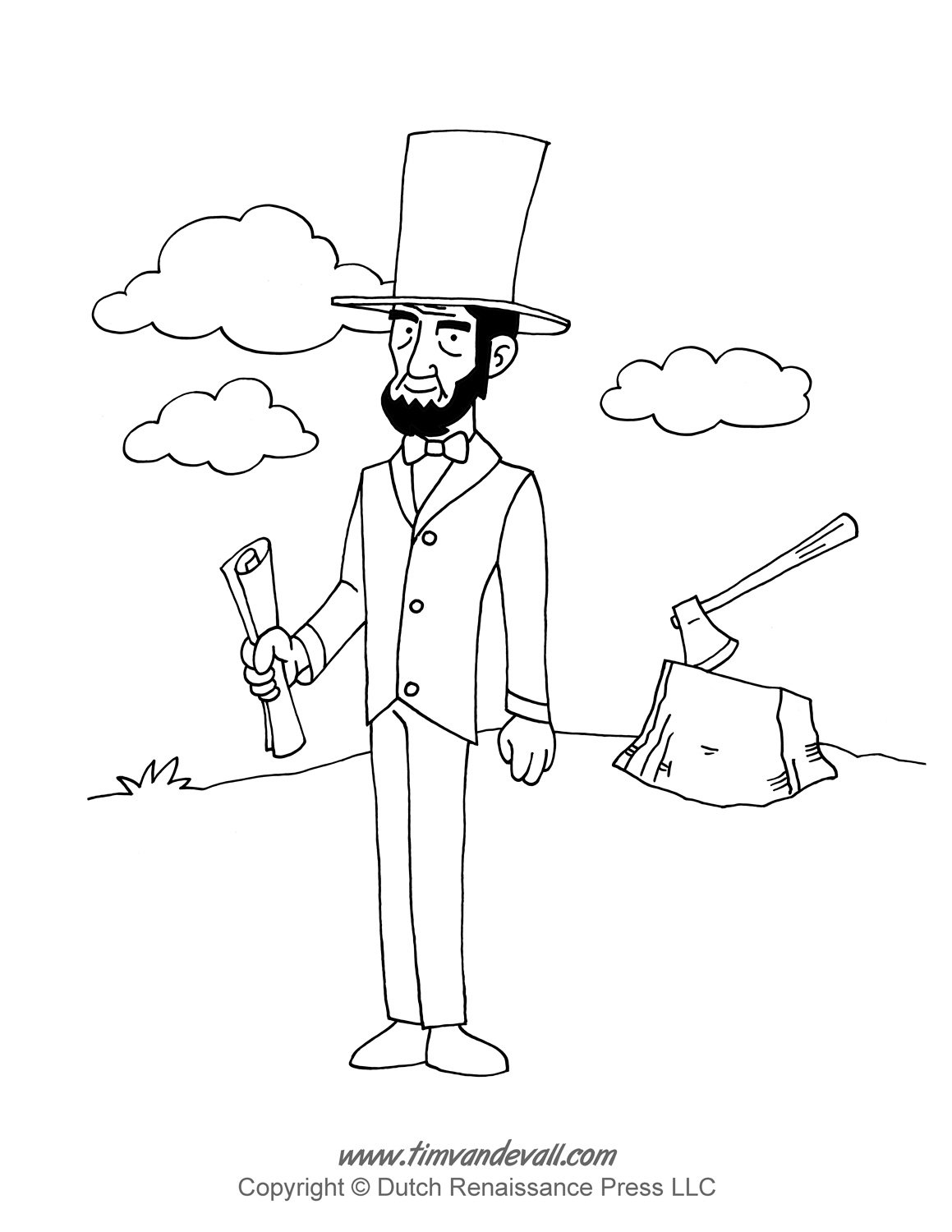 Abraham Lincoln Coloring Pages