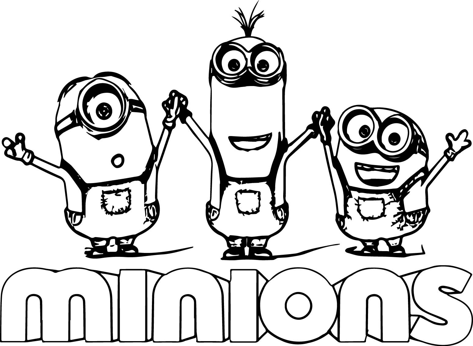 Minion Text Minions Backyard Bash Coloring Page Neo Coloring