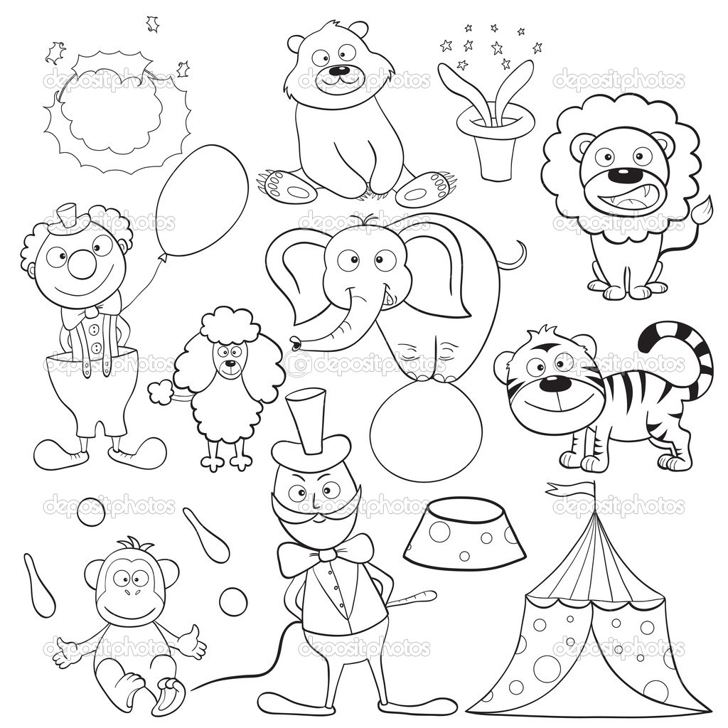 Circus Coloring Pages For Toddlers Archives In New
