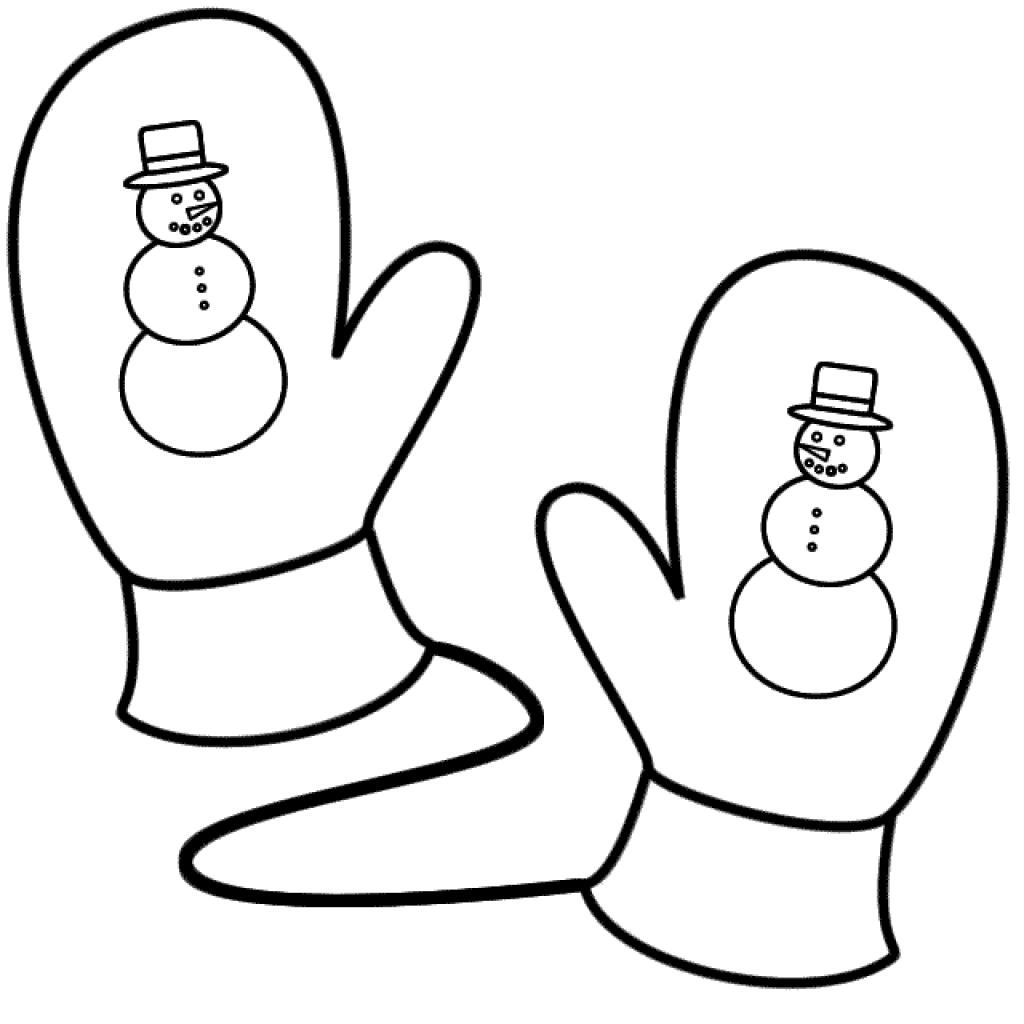 Mittens Coloring Pages