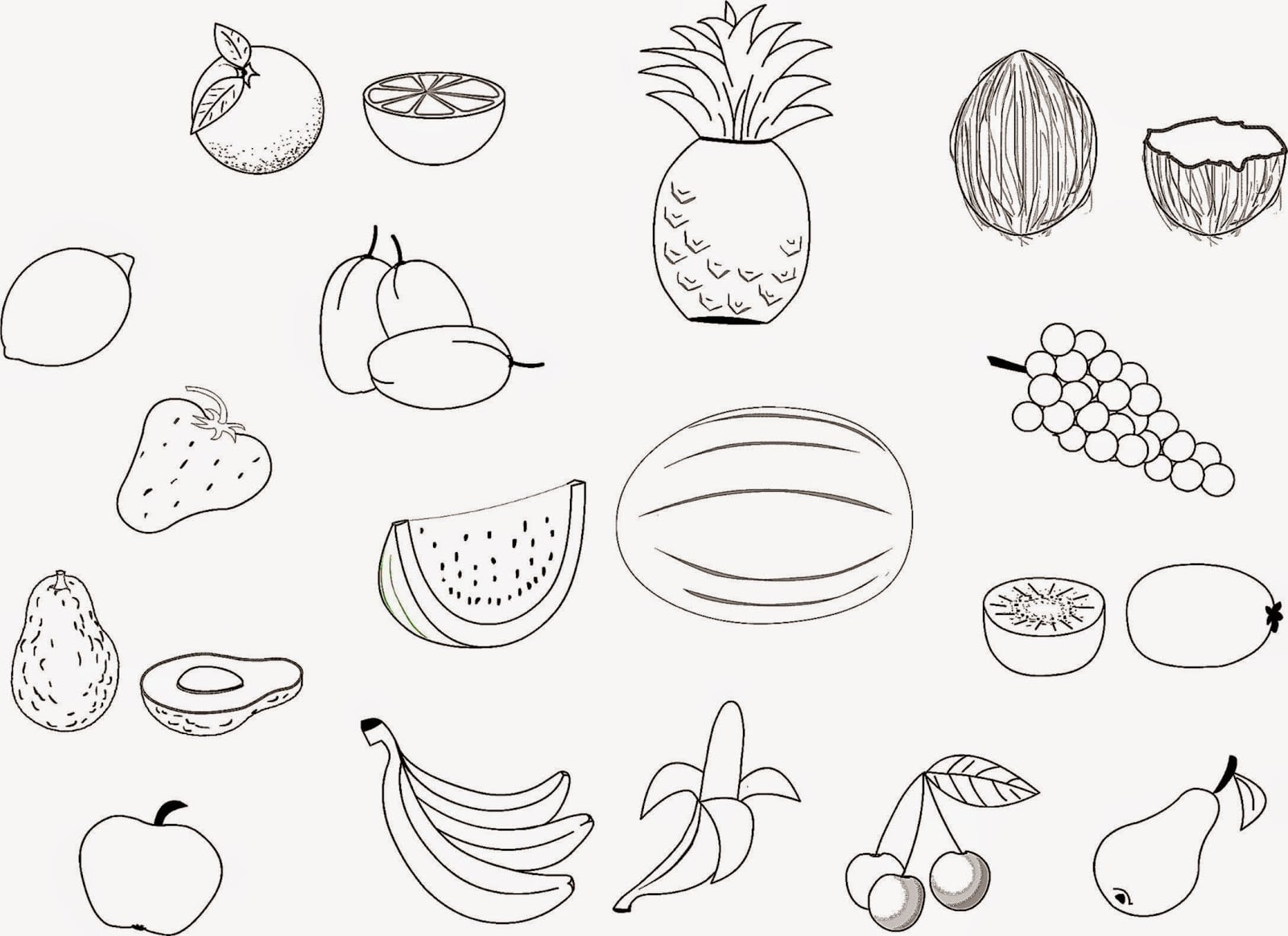 Strikingly Ideas Fruit Salad Coloring Page In Omeletta Me