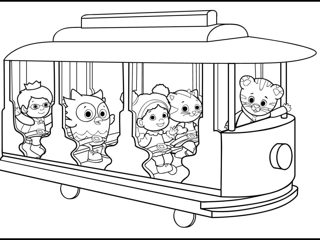 Daniel Tiger Coloring Book