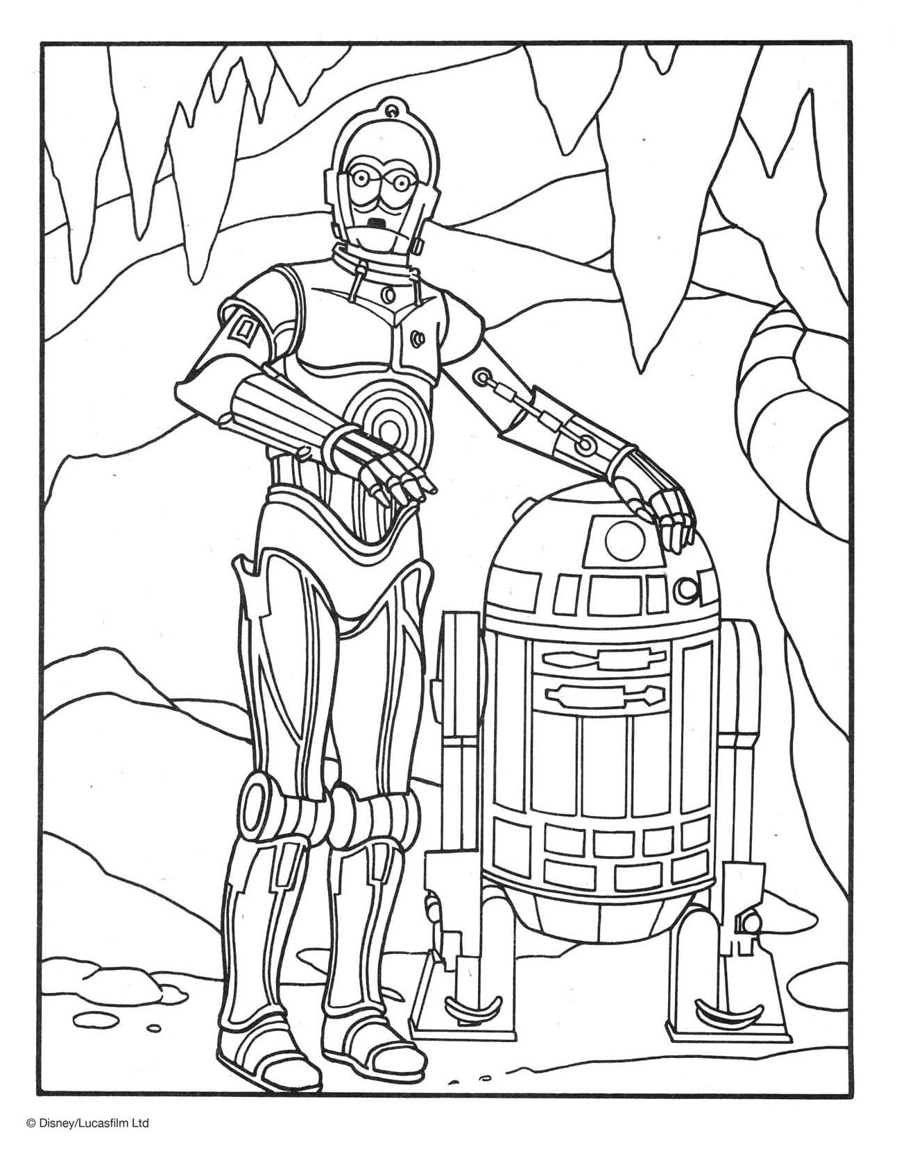 R2d2 Coloring Pages