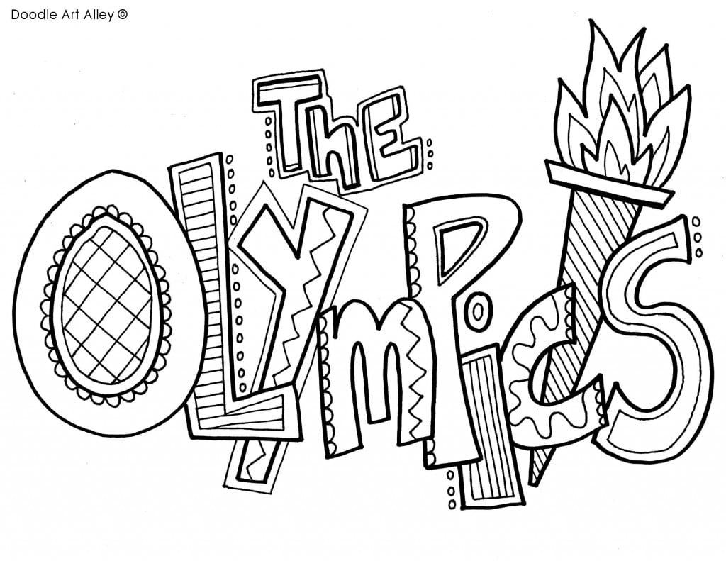 Olympics Themed Coloring Pages | 791x1024