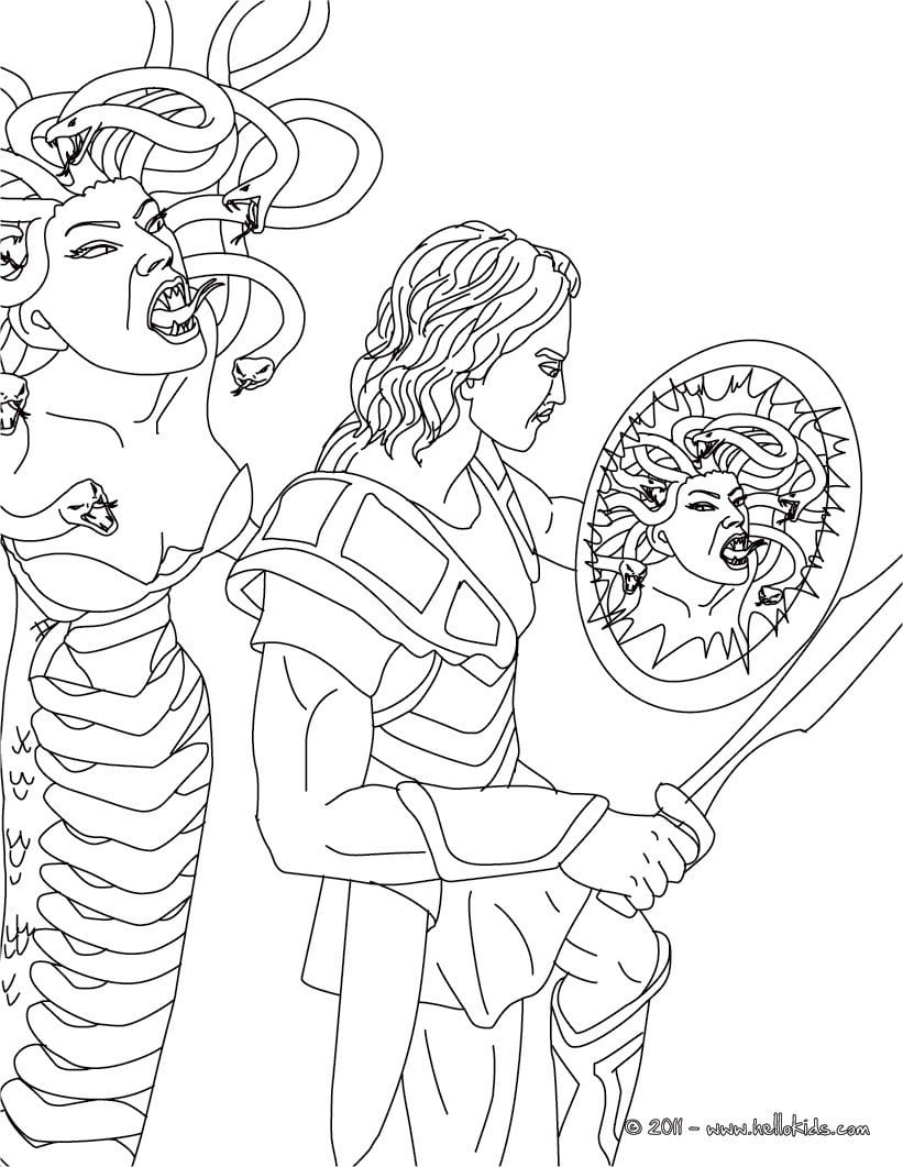 Medusa Coloring Pages