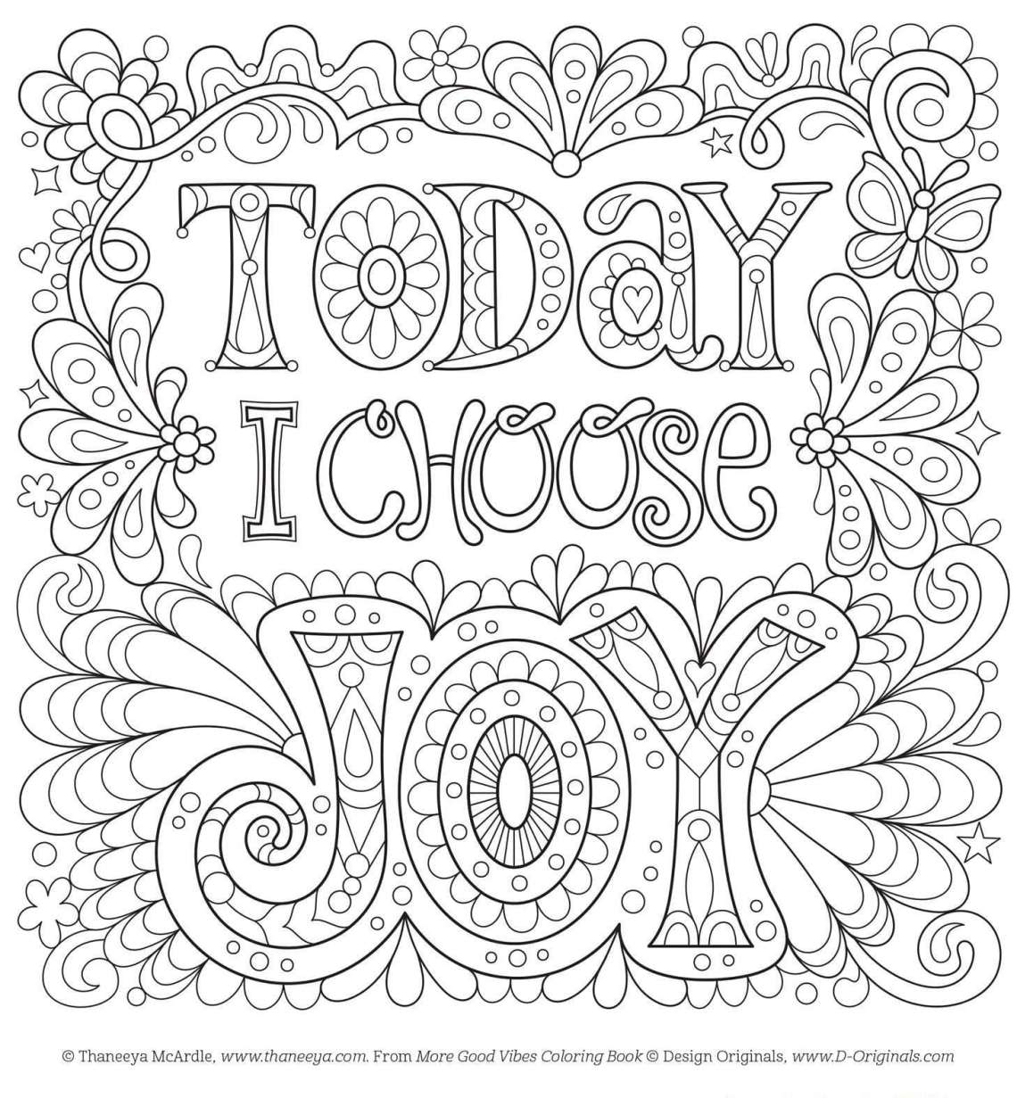 Positive Coloring Pages | free fun coloring pages for adults