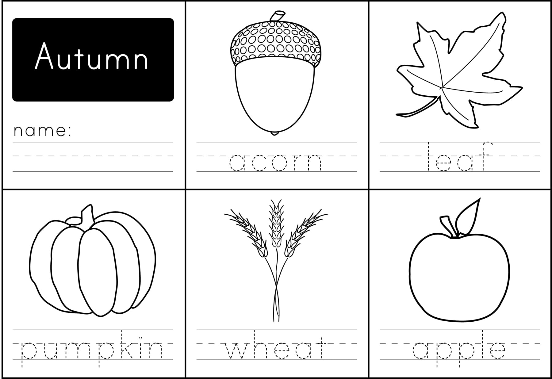 Autumn Printables