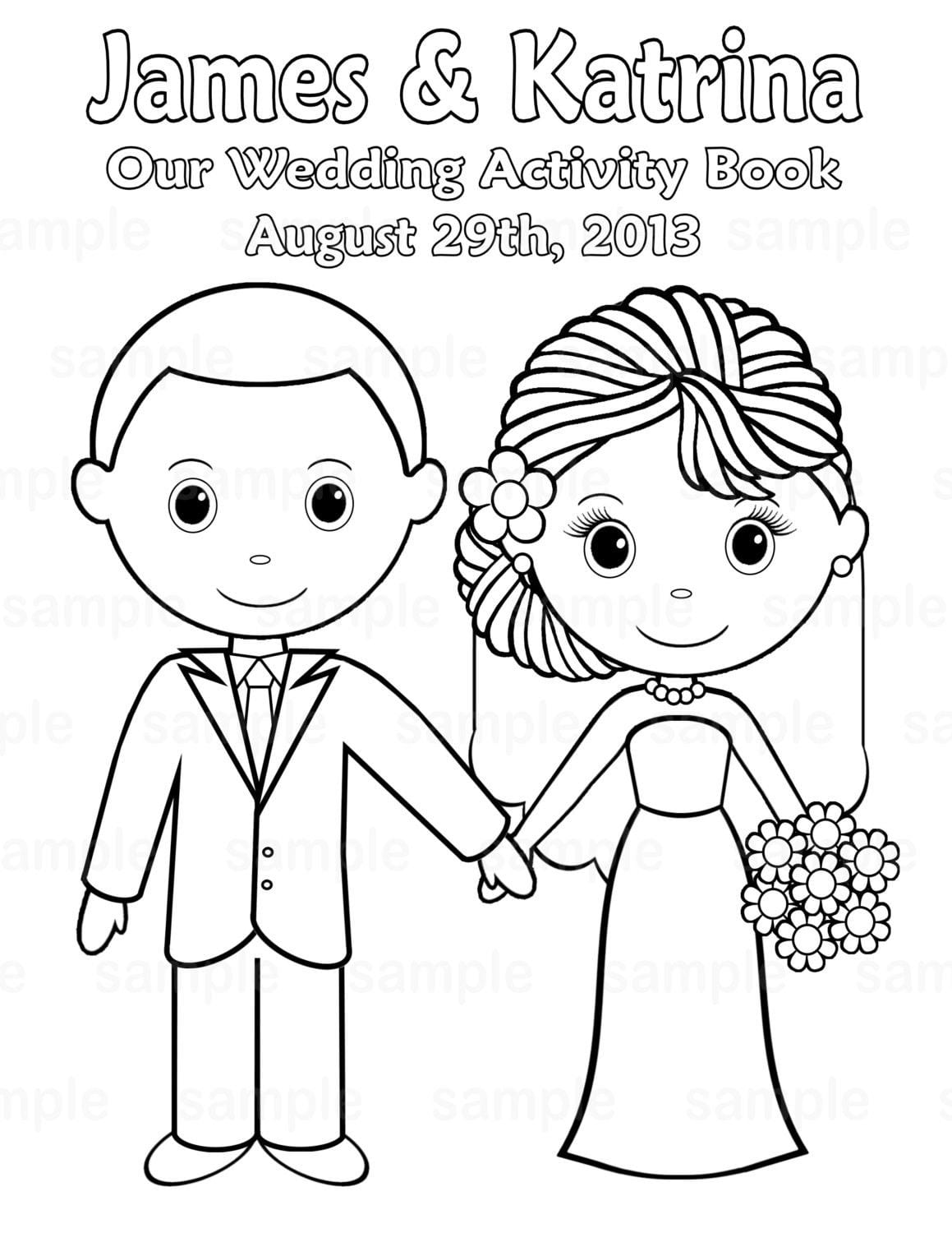 Wedding Coloring Pages For Kids
