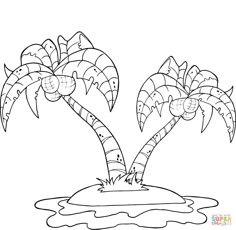 Coconut Tree Printable