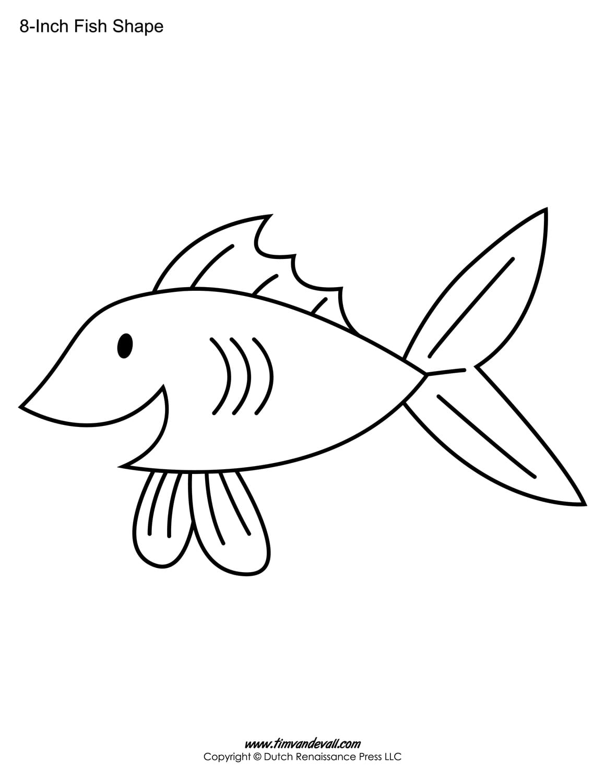 Fish Outline Printable