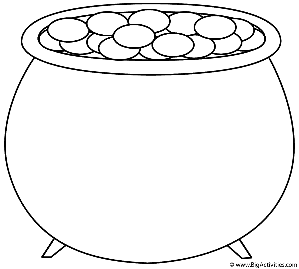 Empty Pot Of Gold Coloring Page