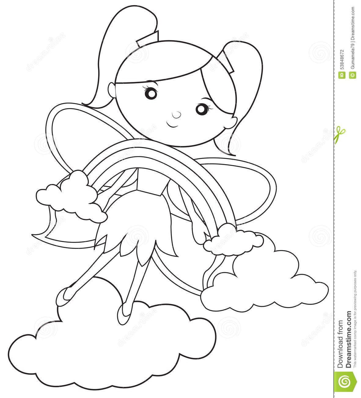 Rainbow Magic Colouring Pages