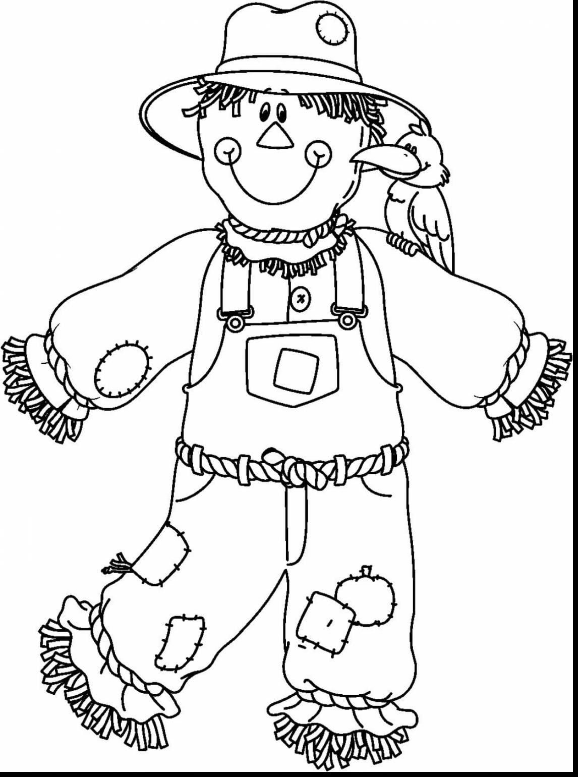Free Printable Scarecrow Coloring Pages