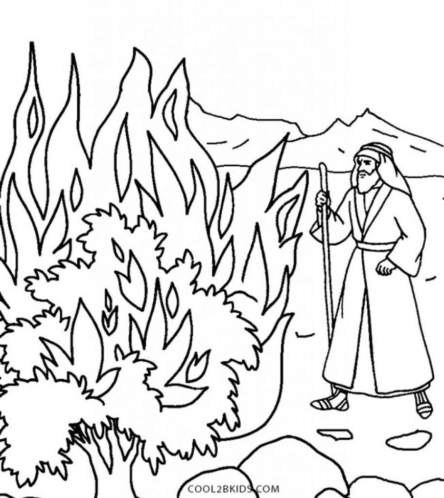 Moses In The Desert Coloring Pages