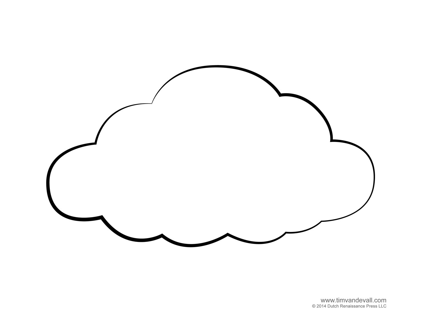 Cloud Cut Out Template