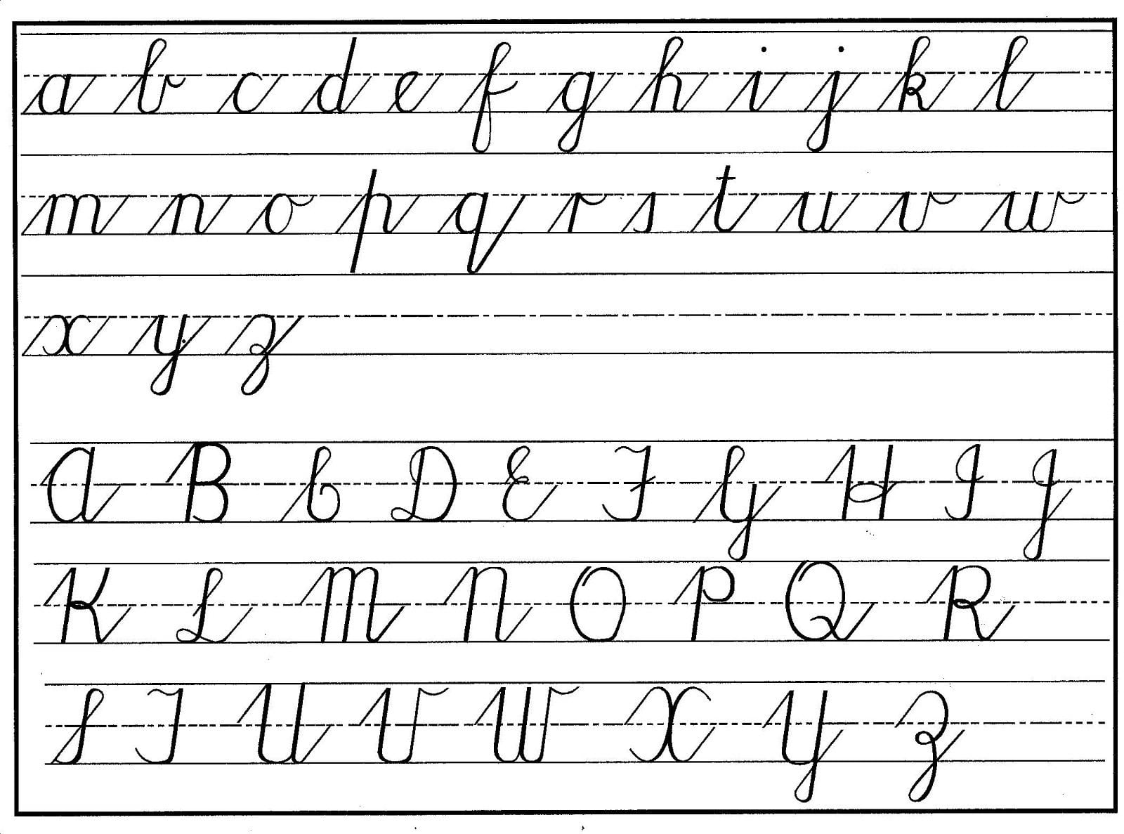 Cursive Alphabet Upper And Lower Case