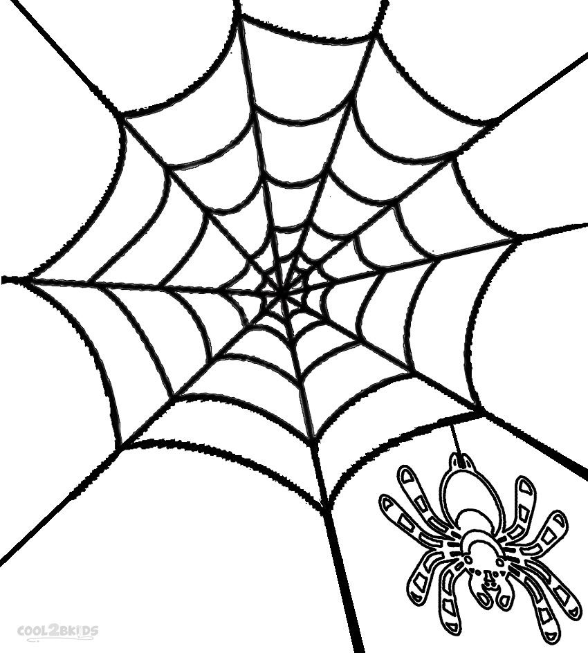 Printable Spider Web Coloring Pages For Kids