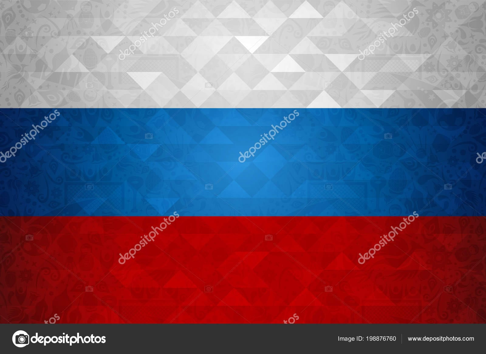Russia Symbol Background Country Flag Colors Traditional Russian Neo Coloring