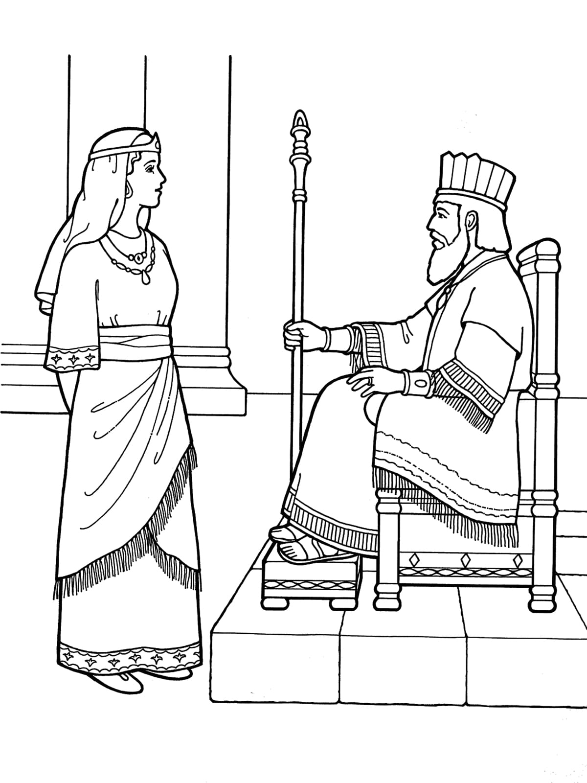 Queen Esther Coloring Pages 33 With Neo Coloring