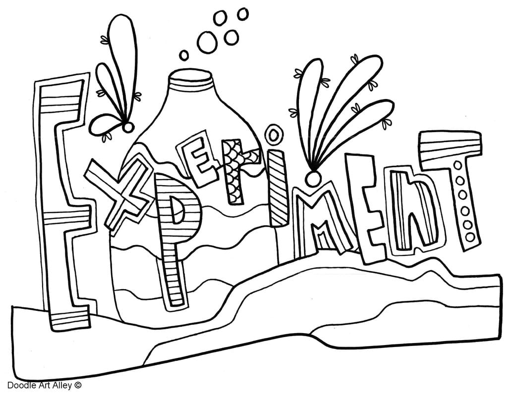 Scientific Method Coloring Pages Classroom Doodles Science