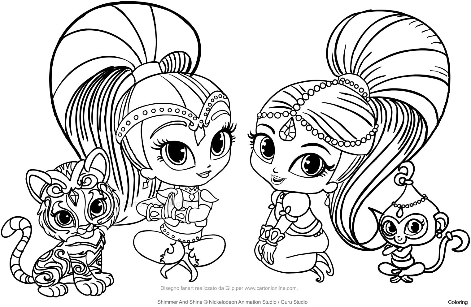 Coloring Shimmer And Shine