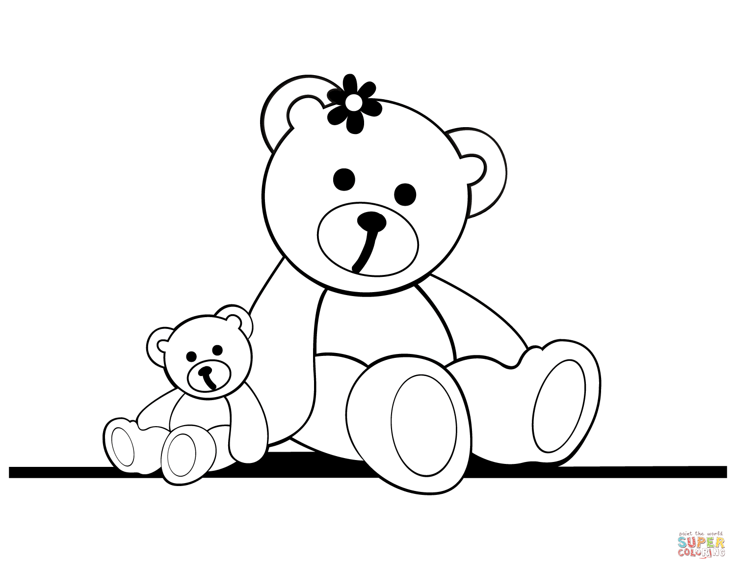 Teddy Bear Coloring Pages For Adults