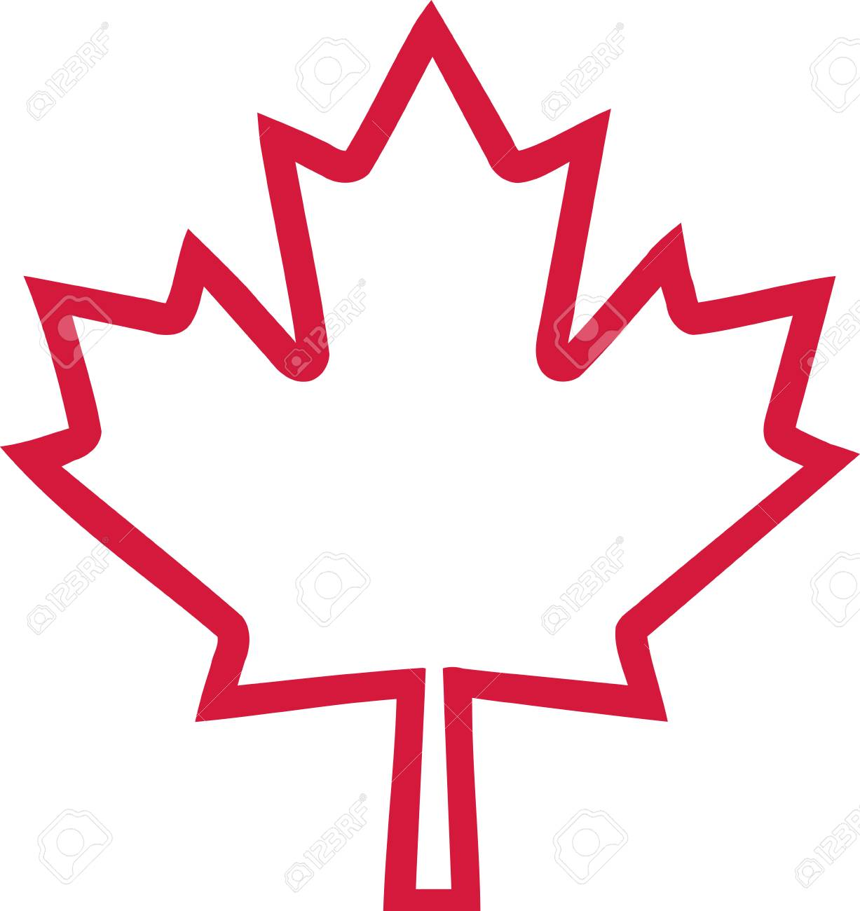 Canada Maple Leaf Outline Royalty Free Cliparts Vectors