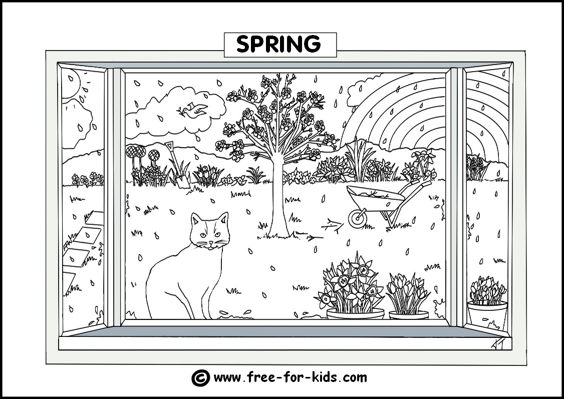 Summer Season Colouring Pages