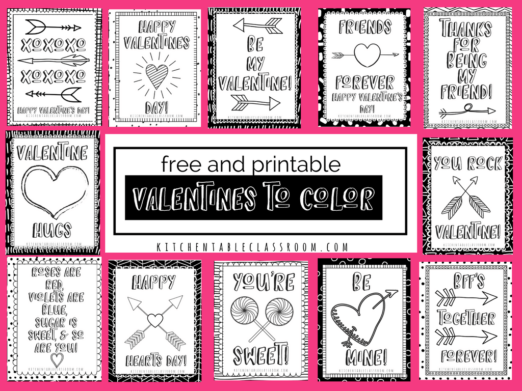 Printable Valentine Cards To Color Neo Coloring